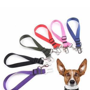 6 Colors Cat Dog Car Safety Seat Belt Harness Adjustable Pet Puppy Pup Hound Vehicle Seatbelt Lead Leash for Dogs 500pcs