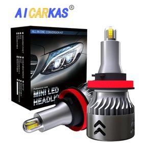 AICARKAS 2PCS CSP LED 헤드 라이트 전구 60W 12000LM 자동차 LED H7 H8 H11 H1 H3 9005 3 9006 4 터보 MINI 자동 램프 12V 24V