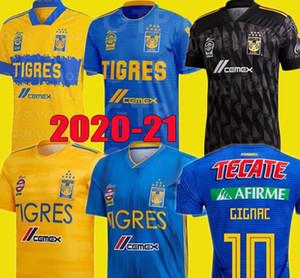 homens crianças 2020 kits 2.021 UANL Tigres GIGNAC Futebol 19 20 21 VARGAS Camiseta Maillot Casa longe Terceiro Pizarro México camisas de futebol