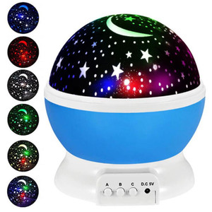 Night Light Projector Lamp Stars Starry Sky LED Projector Children Romantic Led Projection Lamp Party Decoration Sea Shipping AAB1819