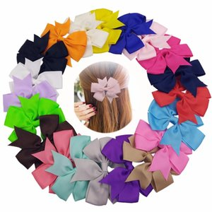 40pcs Lot 3.3inch Solid Colorful Bow Tie Hairpins Children Girls Headwear Ribbon Bowknot Hair Clip Hair Accessories for Kids