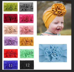 Maize Flower kids headband Fit All Baby flower Girls Headband Headwrap Kids Bow for Hair Wide Head Turban Infant Newborn Headbands
