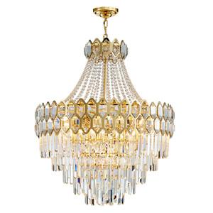 Duplex Etage Große Kristall-Kronleuchter Wohnzimmer Lampe einfache Villa modernen Luxus Kristall Treppe lange Kronleuchter Beleuchtung UPS