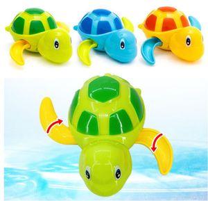 귀여운 만화 동물 거북이 클래식 아기 물 장난감 유아 수영 거북이 상처 업 체인 시계 키즈 비치 목욕 장난감