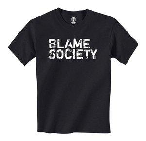 Blame Society - Distressed Mens T-Shirt Fashion Mens Short Sleeve T Shirt Cotton T Shirts Pride Creature