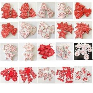 크리스마스 선물 장식품 눈송이 사랑 펜던트 오각형 목재 칩 펜던트 크리 에이 티브 나무 크리스마스 선물 크리스마스 장식 DWA792