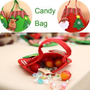 DHL Shiiping Christmas Gift Bag Reusable Craft for Presents Sweet Candy Bags Cookies Bundle Xmas Gift Bag Holiday Party Supplies X591FZ