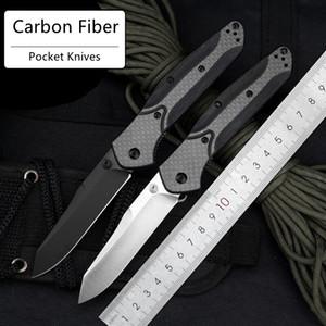 DHL Ücretsiz Kargo Benchmade 940 Otomatik Bıçaklar Karbon Elyaf Sap Rulman Sistemi 440C Blade Pocket Katlanır Blade Bıçak