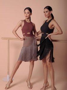 ZYMdancestyle Получить Переместить бахрома юбка # 2028 Женщины латинского танца практике одежды Упругие талии бандаж юбка