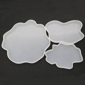 Akik Geode Boasters Silikon Kalıpları Epoksi Reçine Kalıp Drinkware Coaster Kalıpları DIY Çekici Resiar 3 Boyutu
