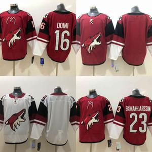 hockey al por mayor Jersey de Phoenix Arizona coyotes cosido para hombre 16 Max Domi Jersey 23 Oliver Ekman-Larsson Rojo Blanco en blanco de los jerseys del hockey