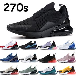 Triples Negro de zapatillas para hombre 270S formadores de cal blanca universitario explosión de ceniza roja pizarra ponche caliente de cactus polvorienta regencia zapatillas de deporte de color púrpura