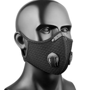Neue Radmasken Aktivierte Kohlenstoffschutzmaske Maske Sport Berg Straße Radfahren Radfahren Staubdichte Abdeckung Gesichtsmasken