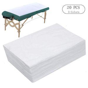 20 PCS Spa Draps Table de massage à usage unique feuille imperméable lit couverture non-tissé Tissu 180 X 80 CM Salon de beauté