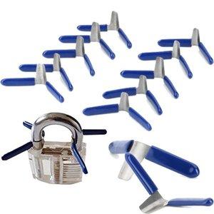Cgjxs 10pcs Padlock Shim Picks Set selezionamento della serratura Set Accessori Strumenti Blocco Home Utensili