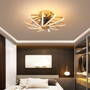 Modern Ceiling Fan With Remote Led Ceiling Fan With Light Living Room Fans 110V 220V Led Light White