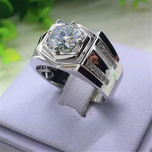 2020 New Fashion Micro Men's Gem Ring Banquet Engagement Jewelry