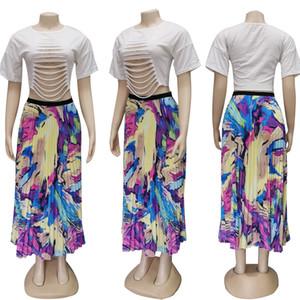 Free shipping 2020 new ladies skirts fashion European and American long skirts5ARF