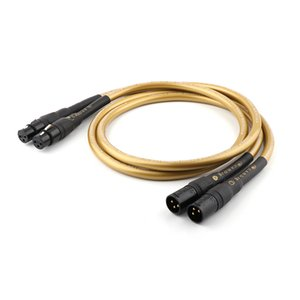 HALLO-End Yter Hexlink Golden 5-C XLR Verbindungskabel, Balance Signaldraht T200608