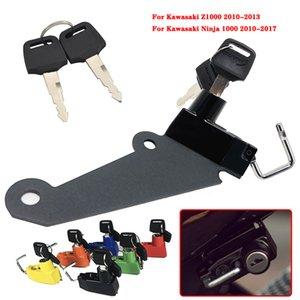 Capacete de bloqueio Kit de alumínio com 2 chaves para Z1000 2010 2012 2013 Ninja 1000 NINJA1000 ninja1000 2010-2020