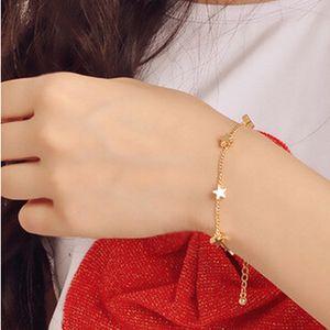 Gold Plated Star Love Heart Charm Bracelet Jewelry for Women Girls Valentine's Day Gifts Elegant bracelet