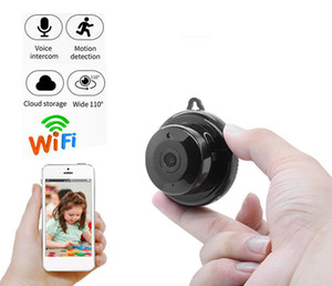 V380 Wifi Wireless Mini Camera HD 1080P Home Security Small CCTV Infrared Night Motion Detection Audio V380 APP Cam Baby Monitor