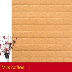 10PCS PE Foam 3D Wall paper Safty Home Decor Wallpaper DIY Wallpaper Brick Living Room Kids Bedroom Decorative Sticker
