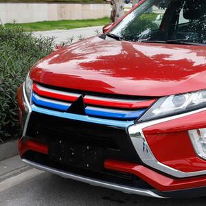 Car Styling 5PCS plástico ABS Frente Car Center Grille Grill Faixa de Decoração Tampa guarnição Para Mitsubishi Eclipse Cruz 2018 2019 jzpY #