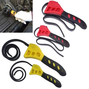 DRELD Multifunctional Rubber Belt Strap Wrench W Adjustable Rubber Strap Bottle Opener Auto Oil Filter Car Spanner Set Hand Tool