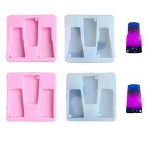 DIY 텀블러 실리콘 형 텀블러 키 체인 실리콘 형 물 유리 석고 키 체인 금형 수제 DIY 도구 HHA1510