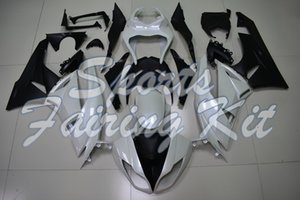 Carenagem Kits para a Kawasaki ZX6R 2009 - 2012 White carenagens preto para a Kawasaki ZX6R 09 10 Full Body Kits Ninja ZX6R 2011
