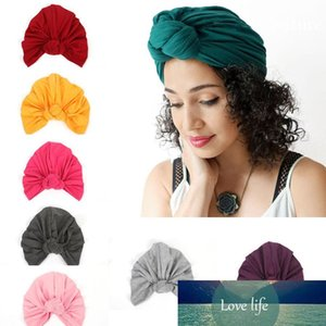Bohemian Fashion Women's Hat Knot Cotton Headwear Lady Beanies Turban Hats Accessories 13 Colors M192