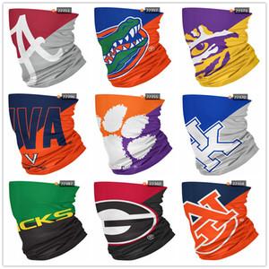 Las nuevas máscaras NCAA artículo Big Logos fisuras cuello polaina Escudo de la bufanda del pañuelo facial Protección UV para la motocicleta Ciclismo Montar Ejecución de las vendas