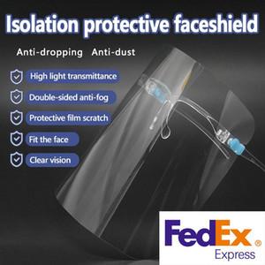Breve Shipping cara azul do pino protectora protetora escudo viseira reutilizável Goggle rosto viseira transparente Camada Anti-Fog Olhos proteger da Oil