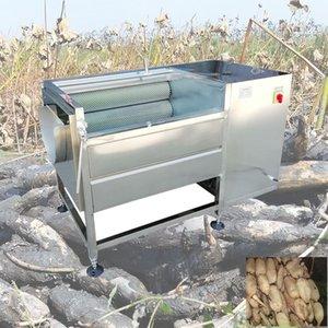 CE blanc Radis laver et peler les fruits Navet Brushing Oyster Snail Scallop Nettoyage Tapioca lave-linge de gingembre frais Machine à laver