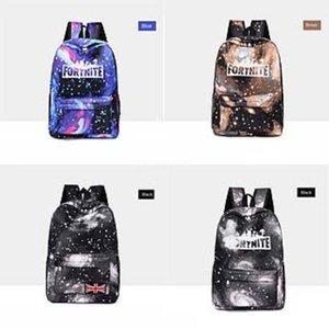 Biggie Orso Fortnite cielo stellato Fortezza Notte zaino Cool Daypack Via Schoolbag Spray Zaino Scuola di Sport sacchetto esterno Day Pack # 563