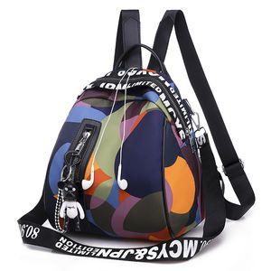 Leder Gepäck Tag2020 Nylon-Rucksack der Frauen Koreanisch-Art der neuen Frauen-Beutel-Art Oxford Cloth Tasche Mini Damen Small Rucksack-Geldbeutel-H