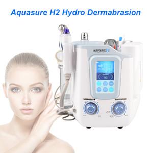 Portátil 3 em 1 Hidro Microdermoabrasão Hydra Facial Limpeza Profunda BIO Microcurrent Face Lift pele aperto Tratamento Spa beleza máquina