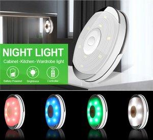 Kablosuz Dokunmatik Sensör LED Altında Kabine Işık Mutfak LED Pil Dolap / Denetleyici Dim Gece Lambası Dolap Puck Işık