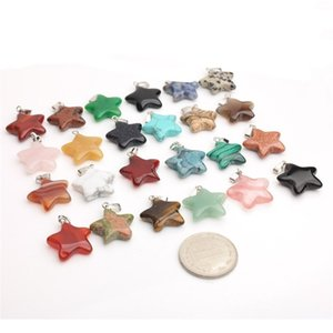 Fashion Natural Stone Agate Pendants Healing Crystals Diy Pendant Pentagonal Shaped Star Necklace Ornaments Accessories Hot Sale 1 25jd B2