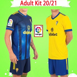 Kit adulte NOUVEAU 2020 2021 Mans Football Cadiz Sets 20 21 ALEX LOZANO NANO ALEJO MARI PEREA hommes SALVI conviennent chemises football