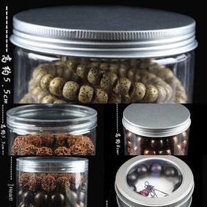 Wenplay contas Buddha contas selado jar-mantendo talão de caixa de pulseira de plástico Buddha pulseira talão Rosewood jóias de armazenamento tampa da caixa de alumínio bea