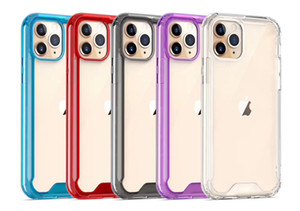 Plexiglas TPU PC Stoß- Fall für das iPhone 12 Mini 11 Pro Max XR XS 6 7 8 Plus Samsung Note20 S20 ultra