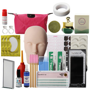 YioWio Training Practice Use All Including 21 Stuffs Mannequin Head For Eyelash Extension Eyelashes Makeup Tool Set Kits
