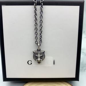 2020 Lüks tasarımcı Tiger kolye otoriter Tiger Başkanı kolye Erkekler Hip-Hop Punk gg kolye marka gu