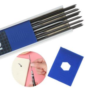 Lápices 1 juego metal mecánicos 2,0 mm portaminas Redacción Dibujo Lápiz Set con Refill Conductores de regalos de la escuela escritorio de la escritura