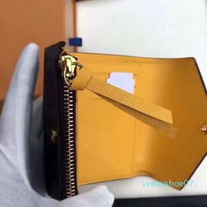 Y07 Оптовая дизайнер кошелек кожаный многоцветной монета кошелек короткий бумажник держатель карты Полихроматическое кошелек леди классический мини карман на молнии