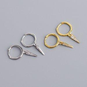 AprilGrass Марка Дизайнер Корейский украшения Простой Геометрический серьги 100% стерлингового серебра 925 Triangle Подвеска серьги для женщин