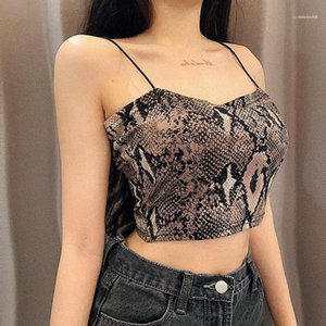 Cropped Tops For Woman Fashion Designer Summer Sexy Lolita Style Fashion Crop Top Leopard Camisole Bra Bustiers