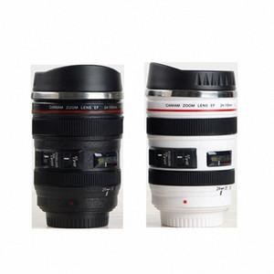 시뮬레이션 렌즈 컵 창조적 인 Caniam 카메라 렌즈 커피 컵 400ml의 스테인레스 스틸 머그잔 여행 카메라 에오스 (24) 105mm 모델 마시는 컵 윗 gMX5 번호